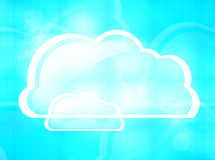 Clouds Background. Graphic illustration image Royalty Free Stock Image