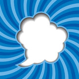Clouds background with sun rays vector Royalty Free Stock Photos