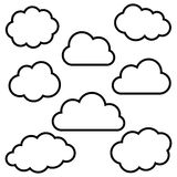 Clouds background royalty free illustration