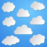 Clouds background Royalty Free Stock Photos