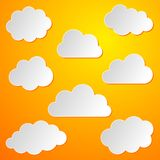 Clouds background stock illustration