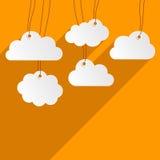 Clouds background vector illustration