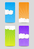 Clouds banners Stock Photos