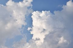 Clouds on the beautiful locality. Background image of a cloud on sky for use in background or text input Royalty Free Stock Photography