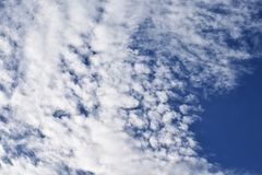 Clouds on the beautiful locality. Background image of a cloud on sky for use in background or text input Royalty Free Stock Image