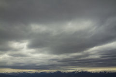 Clouds. Beautiful mountain range with clouds Stock Photos