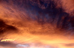 Clouds. Beautiful sunset clouds at dusk stock images