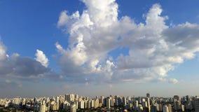 Clouds beautifying cities. Clouds beautifying big cities like Sao Paulo Brazil Royalty Free Stock Image
