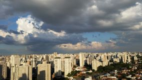 Clouds beautifying cities. Clouds beautifying big cities like Sao Paulo Brazil Royalty Free Stock Photos