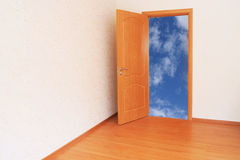 Clouds behind a house threshold Stock Image
