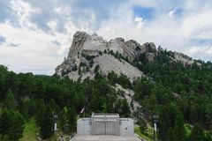 Clouds behind Mount Rushmore stock photography