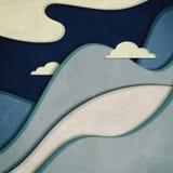 clouds berg stock illustrationer
