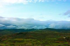 clouds berg Royaltyfri Foto