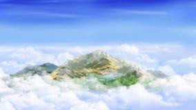 clouds bergmaximumet Arkivfoton