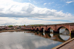 Clouds and berwick bridge Stock Image