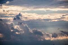 Clouds. Big clouds in the sky Royalty Free Stock Image