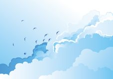 Clouds and birds Royalty Free Stock Photo