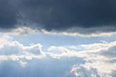 Clouds Black&white. Beautifull clouds in two colors Stock Photography