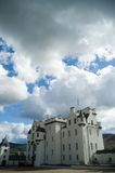 Clouds and blair castle. Blair castle Royalty Free Stock Photos