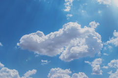 Clouds with blue background Royalty Free Stock Image