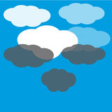 Clouds on blue background Stock Photos