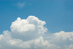 Clouds in the blue sky. Blue sky with clouds for background Stock Image