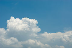 Clouds in the blue sky. Blue sky with clouds for background Royalty Free Stock Image