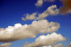 Clouds on a blue sky. A few clouds on a summer blue sky Stock Image