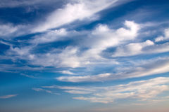 Clouds on the blue sky Royalty Free Stock Photos