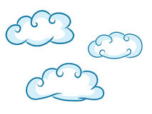 Clouds in a blue sky. Vector illustration Royalty Free Stock Photos
