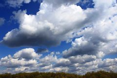 Clouds in the blue sky. Landscape - the blue sky with white clouds Stock Photography