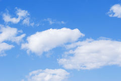 Clouds on blue sky stock photography