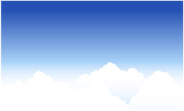 Clouds and blue sky. Clouds and skies, vector illustration