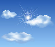 Clouds on blue sky Royalty Free Stock Images