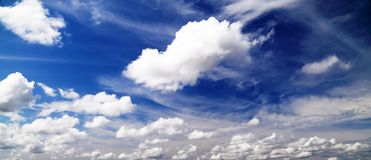 Clouds on the blue sky. Beauty clouds on the blue sky Stock Photos