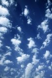 Clouds in blue sky. Stock Images