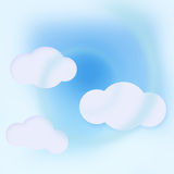 Clouds on blue sky. Abstract illustration with white clouds on blue sky background Stock Photo
