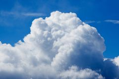 Clouds in blue sky. Cumulus clouds in blue sky Stock Image