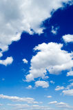 The clouds on blue sky. The beautiful white clouds on background blue sky Royalty Free Stock Photo
