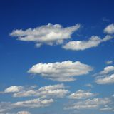 Clouds in blue sky. royalty free stock photography