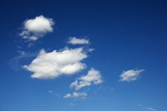 Clouds in blue sky. Stock Photo