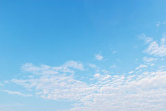 Clouds in the blue sky.  Royalty Free Stock Images