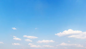 Clouds in the blue sky.  Stock Image