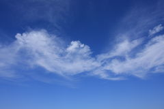 Clouds in blue sky. White clouds in blue sky Stock Photography