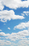 Clouds and Blue Sky. Nice and fluffy Cloud against blue sky royalty free stock photography