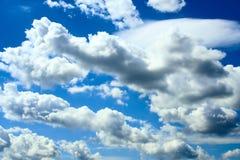 Clouds in a blue sky. White clouds in a blue sky Stock Image