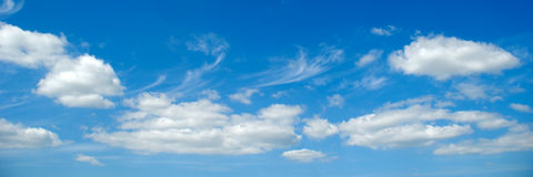Clouds and blue sky Stock Photos