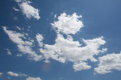 Clouds Blue Sky. Bright white clouds against blue sky Stock Photography