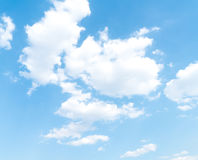 Clouds with blue sky. Clouds in the blue sky Stock Image