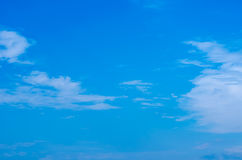 Clouds in the blue sky. Royalty Free Stock Photo